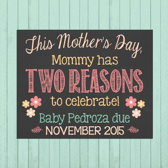 Mother's Day Pregnancy Announcement by PersonalizedChalk on Etsy