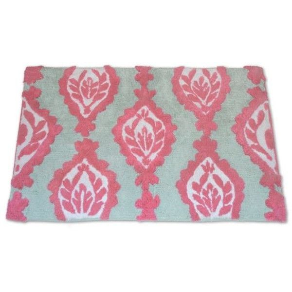 Dena Home&Trade;  Peacock Bath Rug ($26) ❤ liked on Polyvore featuring home, bed & bath, bath, bath rugs, pink, paisley bath rug, pink bath rug, modern bath rugs, chevron bath rug and pink bathroom rugs