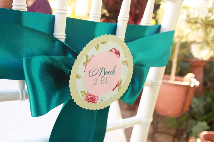 The Bride To Be...Printed on an Eco Luxury Tickled Pink label, then mounted onto Lucy rose and Eco Luxury Avocado circle.