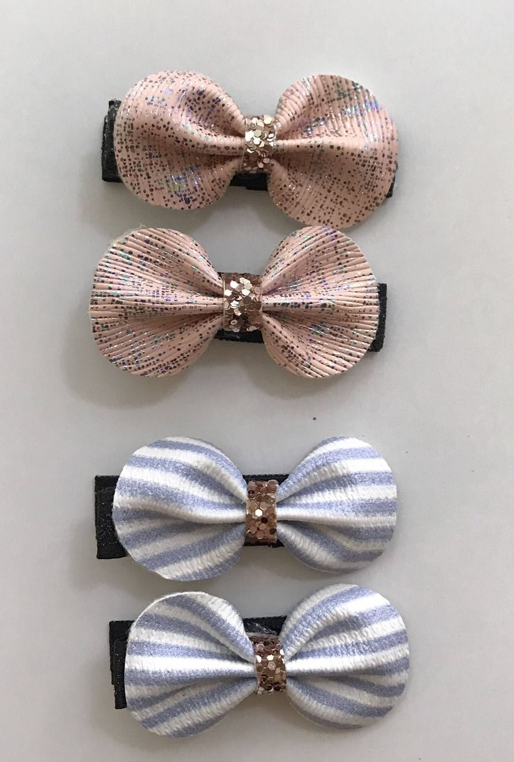 A personal favorite from my Etsy shop https://www.etsy.com/ca/listing/536843795/metallic-pink-clips-blue-and-white