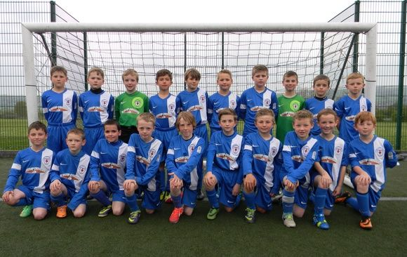 Glossop North End Juniors under 10's sponsored by Glossop Caravans