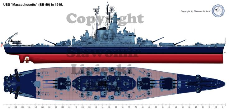 USS Massachusetts 1945 by Lioness-Nala