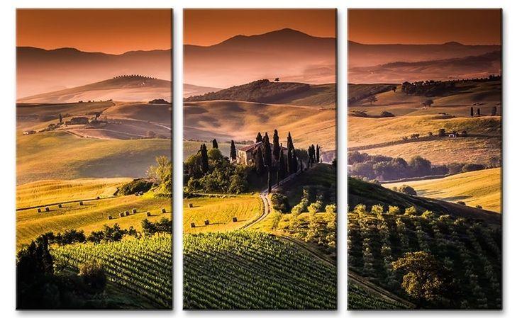 Foto schilderij Toscane Italië op canvas
