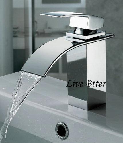 Waterfall Newly Brass Chrome Finish Bathroom Basin Sink Mixer Tap Faucet LJ1218 | eBay