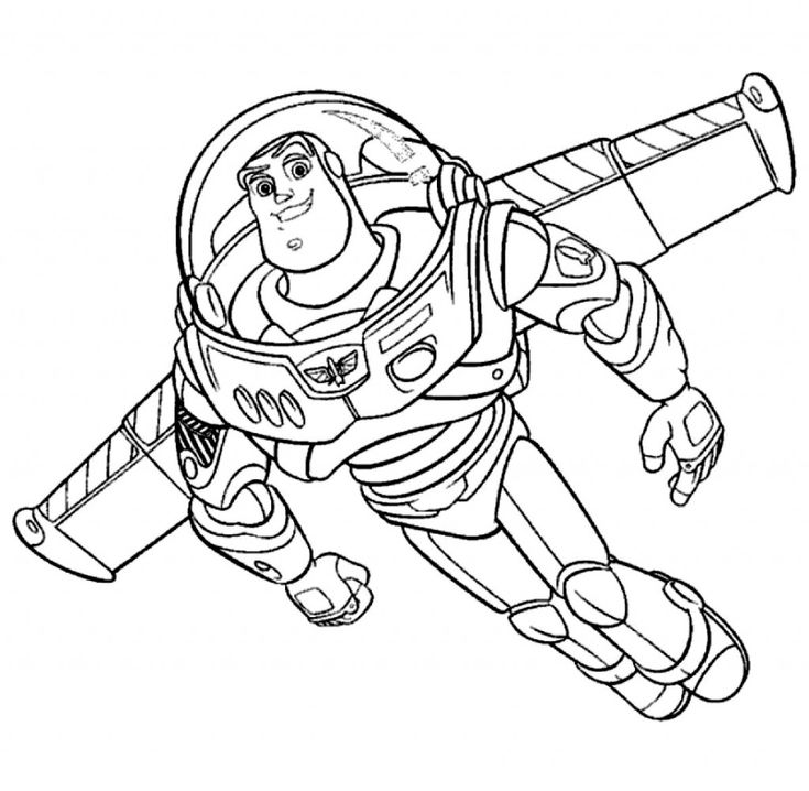 simple buzz lightyear coloring pages - photo#13