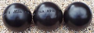 Set-of-New-MS-Petanque-MS-Acier-Steel-Boules-Diameter-74-Weight-690