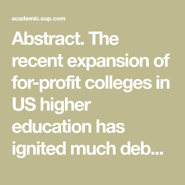 why do you think theyre called for profit colleges essay For-profit vs traditional college autor: ashieash • march 2, 2012 • essay • 544 words (3 pages) • 2,721 views i have recently read an essay written by author kevin carey, called, why do you think they're called for-profit colleges.