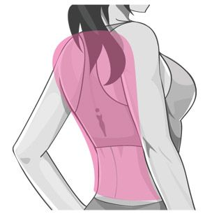 Click on the part of your body you want to work on and it gives you work outs for that area
