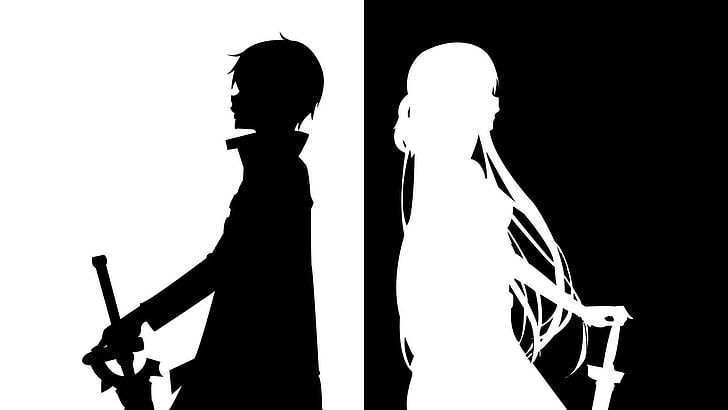 Sword Art Online Silhouette Wallpaper Anime Kirigaya Kazuto Hd