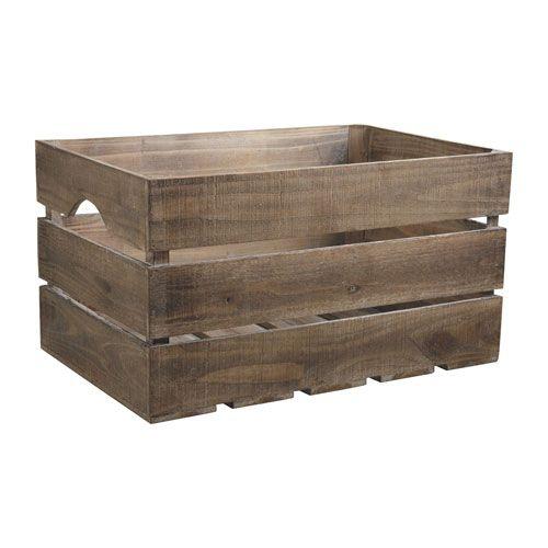Caisse de rangement bois vieilli esprit campagne Aubry Gaspard