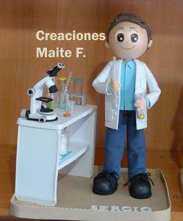 FOFUCHAS. Manualidades y Creaciones Maite: FOFUCHO INGENIERO QUIMICO PERSONALIZADO