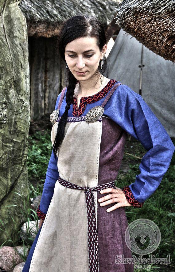 Scandinavian Apron Dress Early Medieval Viking Dress for