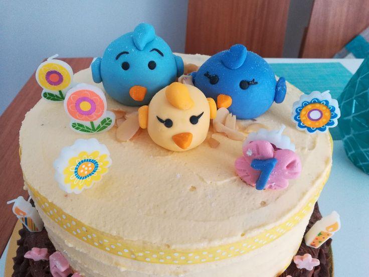 Birthday cake!  first birthday family birds