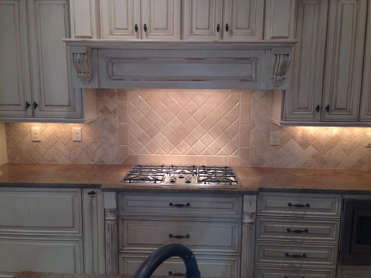 Backsplash Tumbled Marble Travertine Herringbone Tile Projects Pinterest Herringbone