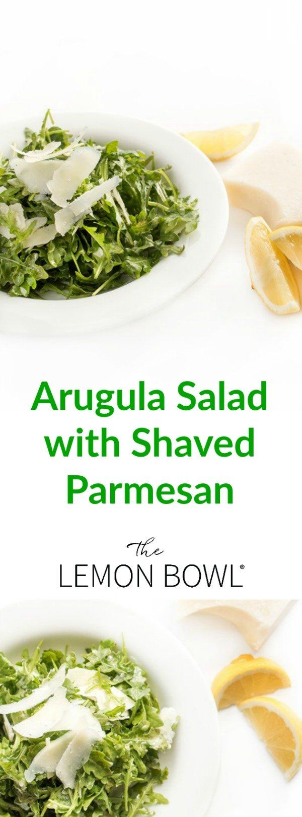 This bright and refreshing arugula salad recipe is made with just five simple ingredients including lemon juice, olive oil and shaved parmesan.