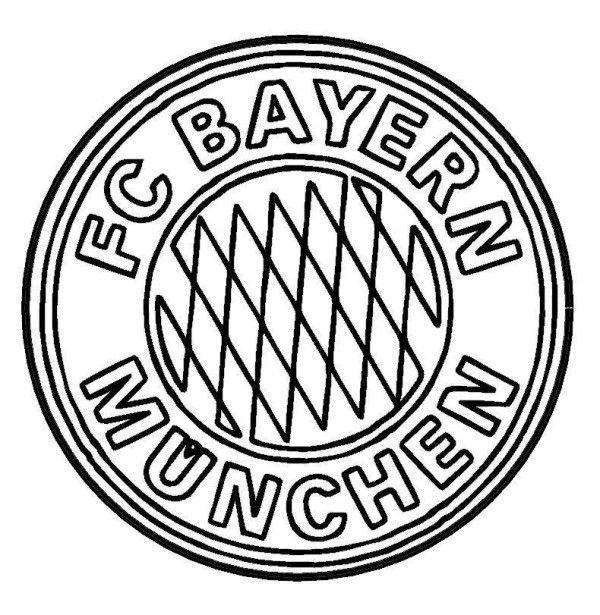fc bayern münchen logo ausmalbilder  malvorlagen