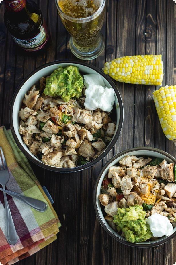 Copycat Chipotle Burrito Bowls via Ellaphant Eats #healthy #clean #comfort