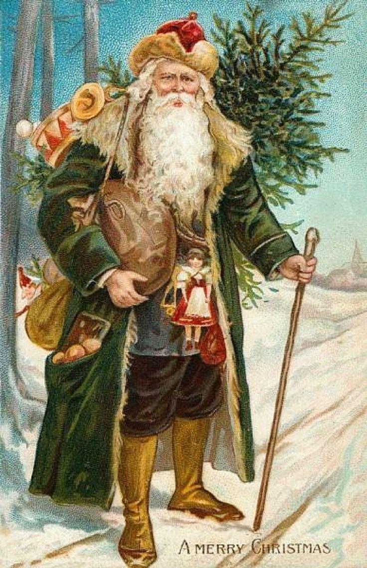 Юбилеем, открытки деда мороза старинные