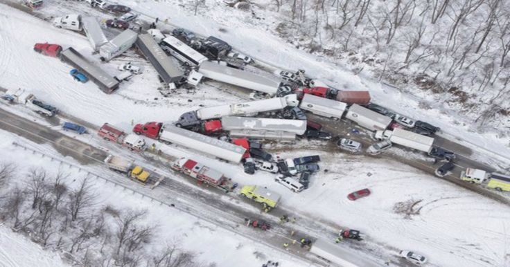 LEBANON COUNTY, PENNSYLVANIA – More than 50 vehicles were involved in a pile up on snowy road conditions on 1-78 Saturday and multiple injuries were reported, police said. The interstate remains closed in certain sections.  A pileup involving more than 50 cars shut down a highway outside Harrisburg, Pennsylvania, amid strong winds and poor visibility, officials said.
