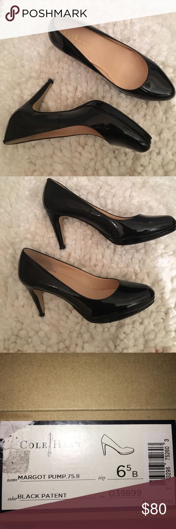 Like new Cole HAAN patented leather pumps Like new. Worn once for a special event. Comes in box. No scuffs or marks. Cole Haan Shoes Heels