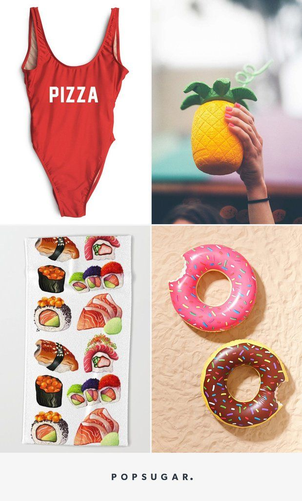 We've rounded up the cutest towels, drinkware, swimsuits, and more must-have beach trip goodies that are almost realistic enough to eat