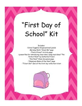 Great activities to get you through the first day of school! Help setting up classroom rules, get to know you game, and more!