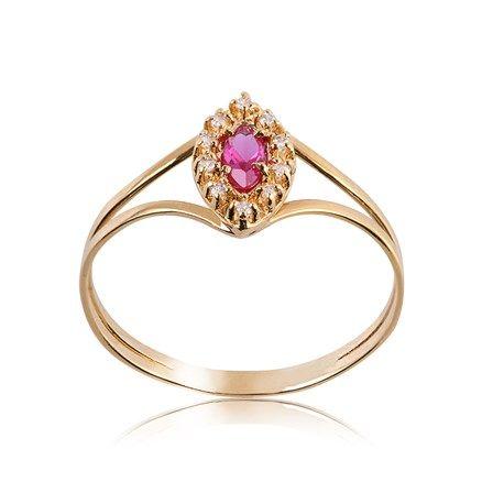 Anel de Formatura Ouro com Diamante 10 Pontos 1206