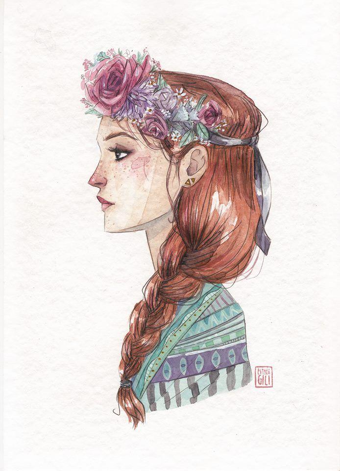 Esther Gili - ESTACIONES #Illustration #Art #Girl