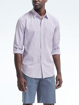 Grant-Fit Seersucker Shirt