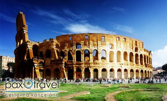Len 125 € za poznávací zájazd do Ríma aj s návštevou Vatikánu. Štyri dni plné zážitkov a krásnej architektúry v starovekom meste plnom histórie so 42% zľavou.