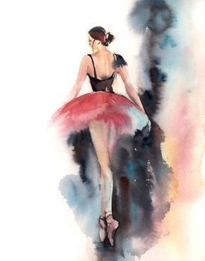 Ballerina Watercolor Painting Art Print Fine Art Print from Watercolor Painting Ballet Watercolour Wall Art Ballerina in Pink, Abstract background PRINT DETAILS: printed on Epson art printer specialised in museum quality printing, on heavy weight archival (acid free, special coated, non-yellowing) paper. Each art print is a reproduction of my original one of a kind artwork. SIZES: please choose from the drop menu. There are standard inches sizes and A-sizes also. Custom sizes are…