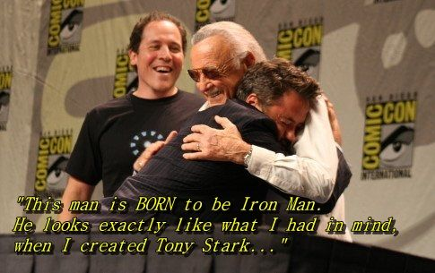 A quote from Stan Lee on RDJ playing Iron Man. So perfect!!