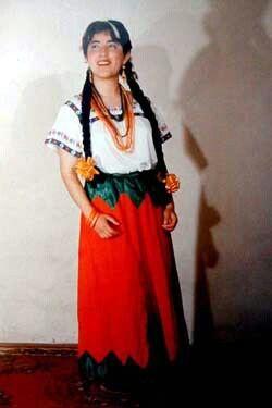 Traje Típico de Guanajuato en México.