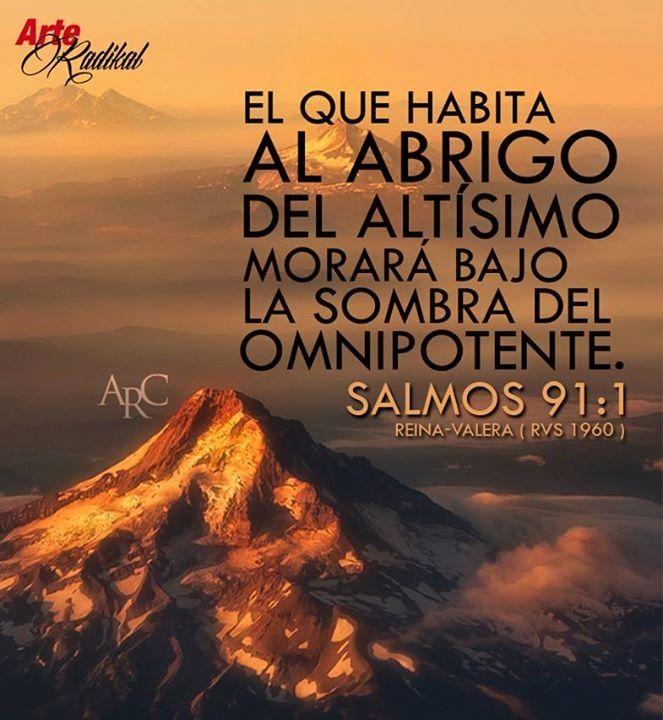 Salmo 91:1 El que habita al abrigo del Altísimo Morará bajo la sombra del Omnipotente.