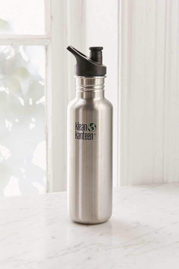 Klean Kanteen 27oz Classic Sport Cap Stainless Steel Water Bottle BLACK LOVE IS
