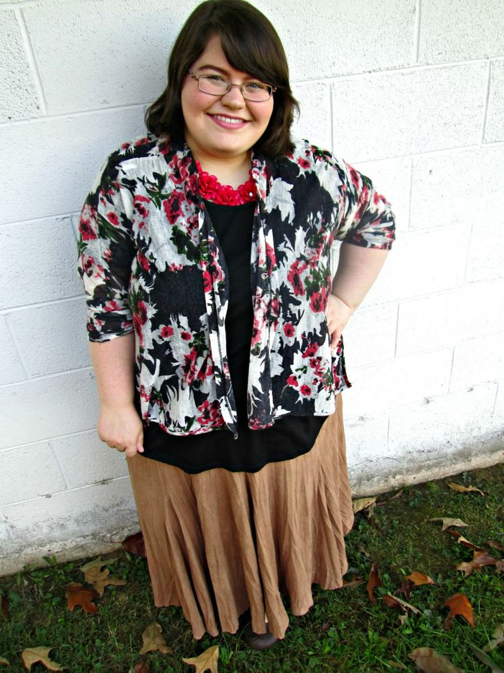 Unique Geek: Plus Size OOTD: Fall Florals: