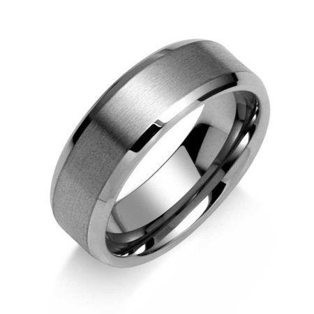 Bling Jewelry - Wide Polished Beveled Edge Brushed Matte ...