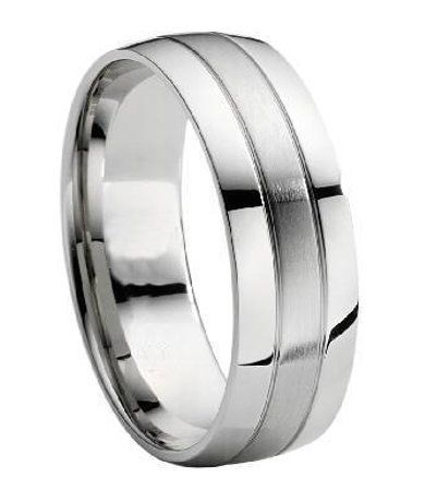 Titanium Wedding Band With Grooves | Theraphy Magnets