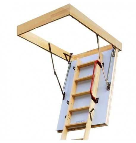 4 section folding loft ladder kit complete with insulated hatch