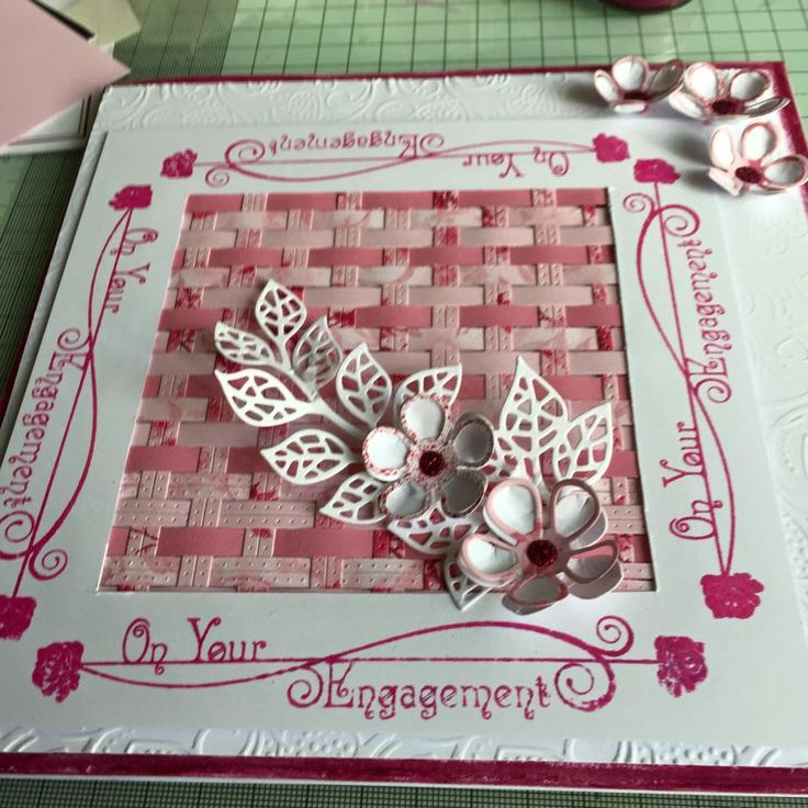 card using Phill Martin chic colours and stamps and Sue Wilson dies