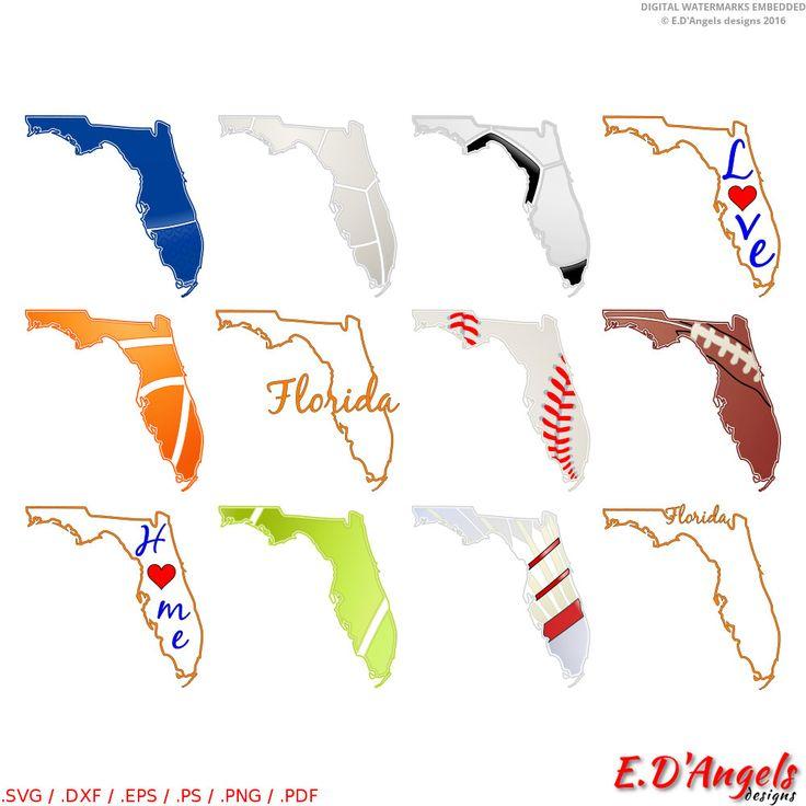 Florida - florida map - florida state - florida svg - map svg - florida print  - cricut - cutting files - florida home - florida love