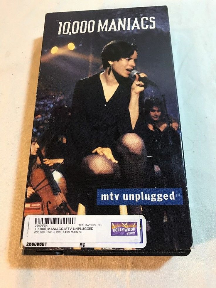 10,000 Maniacs VHS MTV UNPLUGGED Music Concert Electra Video