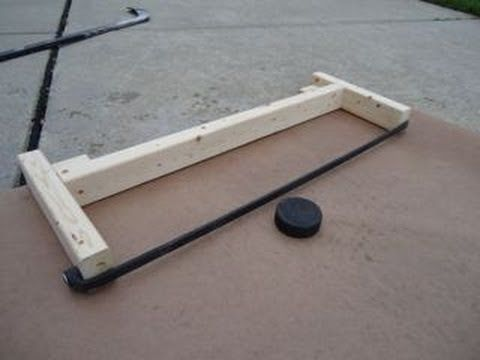 How to Make a Hockey Puck Rebounder: Less than 6 Bucks!