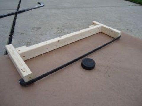 How to Make a Hockey Puck Rebounder: Less than 6 Bucks! - YouTube