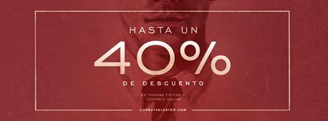 Hasta un 40% de descuento en @Corbatas_Lester!!!! ¿Te las vas a perder? #Lester #Zielo #Rebajas