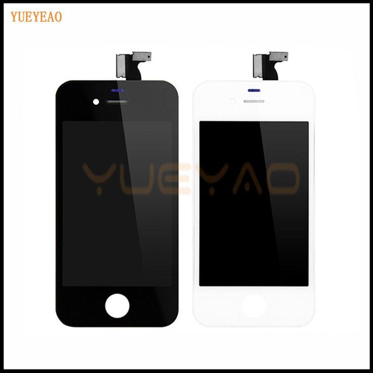 YUEYAO Para el iphone 4 4G 4S A1332 A1332 Ecran Pantalla LCD Asamblea de Pantalla Táctil Digitalizador Reemplazo de la Pantalla Del Teléfono Móvil partes