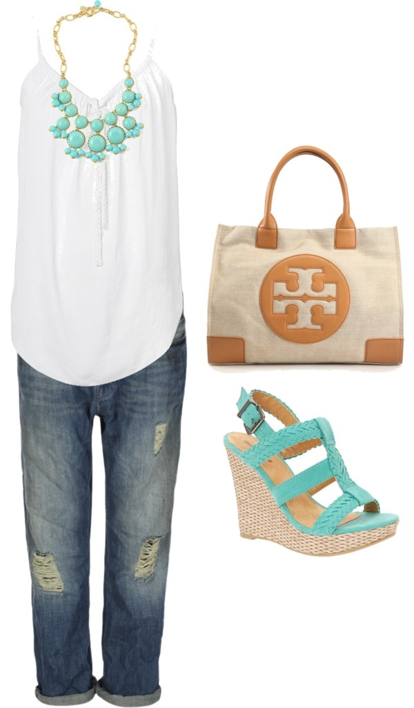 love the shoes!!!: Nice Outfit, Summer Casual, Casual Summer, Color, Summer Shoes, Tory Burch, Polyvore Outfits, Spring Summertime Outfits, Beautiful Shoes