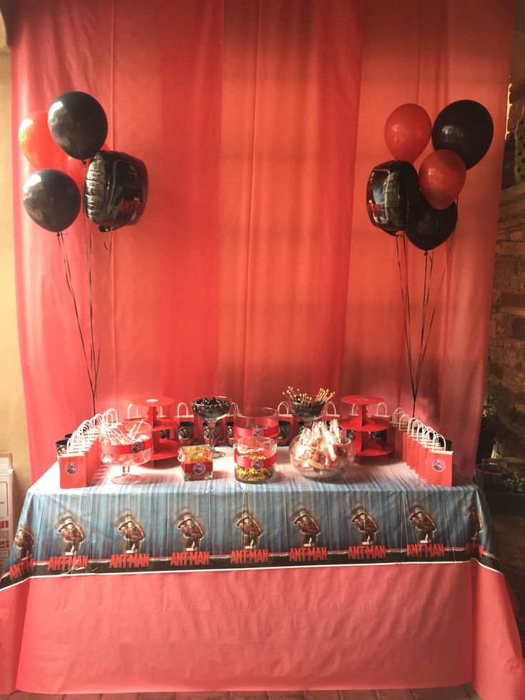 Ant Man Candy Buffet In 2019 Man Party Birthday