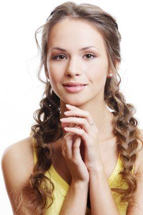 Braided hairstyle - Loose braids, wavy hair
