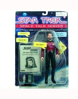 7 Commander William Riker Action Figure - Star Trek Space Talk Series - Hear Jonathan Frakes Actual  @ niftywarehouse.com